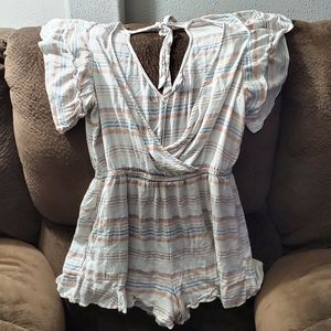 Flowy Open Back American Eagle Romper